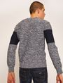 ARMANI EXCHANGE COLORBLOCKED MARLED YARN SWEATER Crew Neck [*** pickupInStoreShippingNotGuaranteed_info ***] e