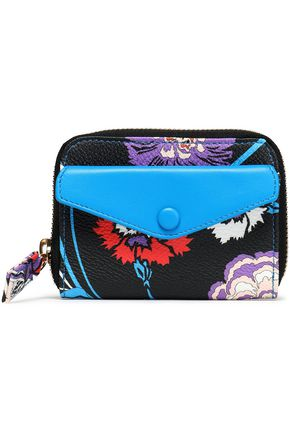 EMILIO PUCCI Printed faux leather wallet