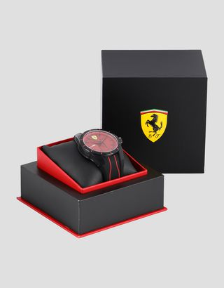 Scuderia Ferrari Online Store - RedRev watch in black with red dial - Quartz Watches