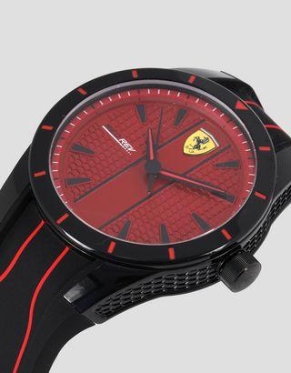 Scuderia Ferrari Online Store - RedRev watch in black with red dial - Quartz Watches