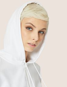 ARMANI EXCHANGE CLASSIC TONAL DEBOSSED LOGO ZIP-UP HOODIE Sweatshirt Woman a