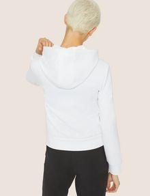 ARMANI EXCHANGE CLASSIC TONAL DEBOSSED LOGO ZIP-UP HOODIE Sweatshirt Woman e