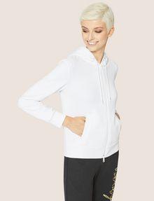 ARMANI EXCHANGE CLASSIC TONAL DEBOSSED LOGO ZIP-UP HOODIE Sweatshirt Woman f