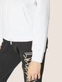 ARMANI EXCHANGE CLASSIC TONAL DEBOSSED LOGO ZIP-UP HOODIE Sweatshirt Woman b