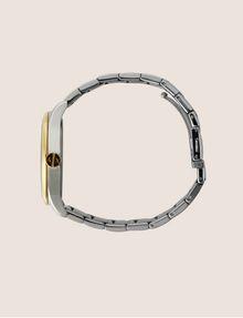 ARMANI EXCHANGE Stahluhr mit kontrastierenden goldenen Details Fashion Watch [*** pickupInStoreShippingNotGuaranteed_info ***] a