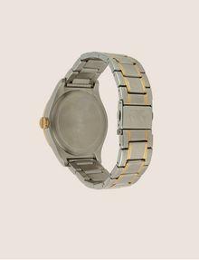 ARMANI EXCHANGE Stahluhr mit kontrastierenden goldenen Details Fashion Watch [*** pickupInStoreShippingNotGuaranteed_info ***] e