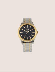 ARMANI EXCHANGE Stahluhr mit kontrastierenden goldenen Details Fashion Watch [*** pickupInStoreShippingNotGuaranteed_info ***] f