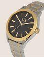 ARMANI EXCHANGE Stahluhr mit kontrastierenden goldenen Details Fashion Watch [*** pickupInStoreShippingNotGuaranteed_info ***] r
