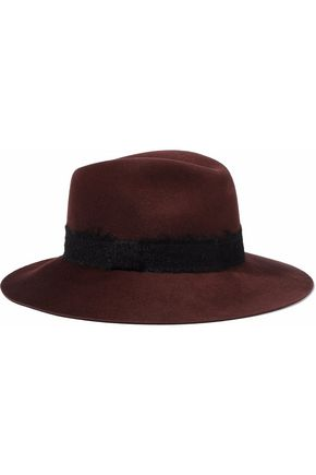 EUGENIA KIM Georgina brushed woven-trimmed wool-felt fedora