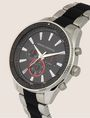 ARMANI EXCHANGE CHRONOGRAPH WATCH AND KNOTTED BRACELET SET Fashion Watch Man r
