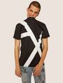ARMANI EXCHANGE LOOSE-FIT OVERSIZED LINE LOGO CREW Graphic T-shirt Man a