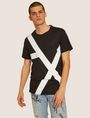 ARMANI EXCHANGE LOOSE-FIT OVERSIZED LINE LOGO CREW Graphic T-shirt Man f
