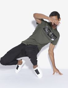 ARMANI EXCHANGE REGULAR-FIT STENCIL LOGO CREWNECK TEE Logo T-shirt [*** pickupInStoreShippingNotGuaranteed_info ***] a