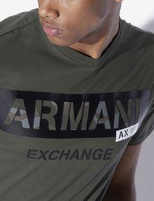 ARMANI EXCHANGE REGULAR-FIT STENCIL LOGO CREWNECK TEE Logo T-shirt [*** pickupInStoreShippingNotGuaranteed_info ***] b