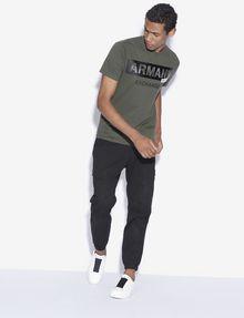 ARMANI EXCHANGE REGULAR-FIT STENCIL LOGO CREWNECK TEE Logo T-shirt [*** pickupInStoreShippingNotGuaranteed_info ***] d
