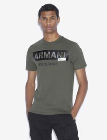 ARMANI EXCHANGE REGULAR-FIT STENCIL LOGO CREWNECK TEE Logo T-shirt [*** pickupInStoreShippingNotGuaranteed_info ***] f