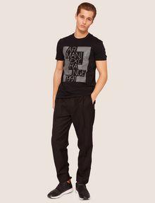 ARMANI EXCHANGE SLIM-FIT OPTICAL STRIPE METALLIC CREW Logo T-shirt [*** pickupInStoreShippingNotGuaranteed_info ***] d