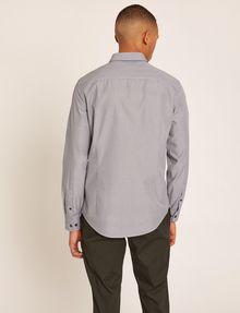 ARMANI EXCHANGE SLIM-FIT MICRO-STRIPE LOGO SHIRT Striped Shirt [*** pickupInStoreShippingNotGuaranteed_info ***] e