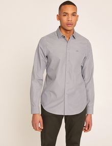 ARMANI EXCHANGE SLIM-FIT MICRO-STRIPE LOGO SHIRT Striped Shirt [*** pickupInStoreShippingNotGuaranteed_info ***] f
