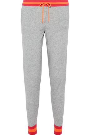 CHINTI AND PARKER Striped mélange cashmere track pants