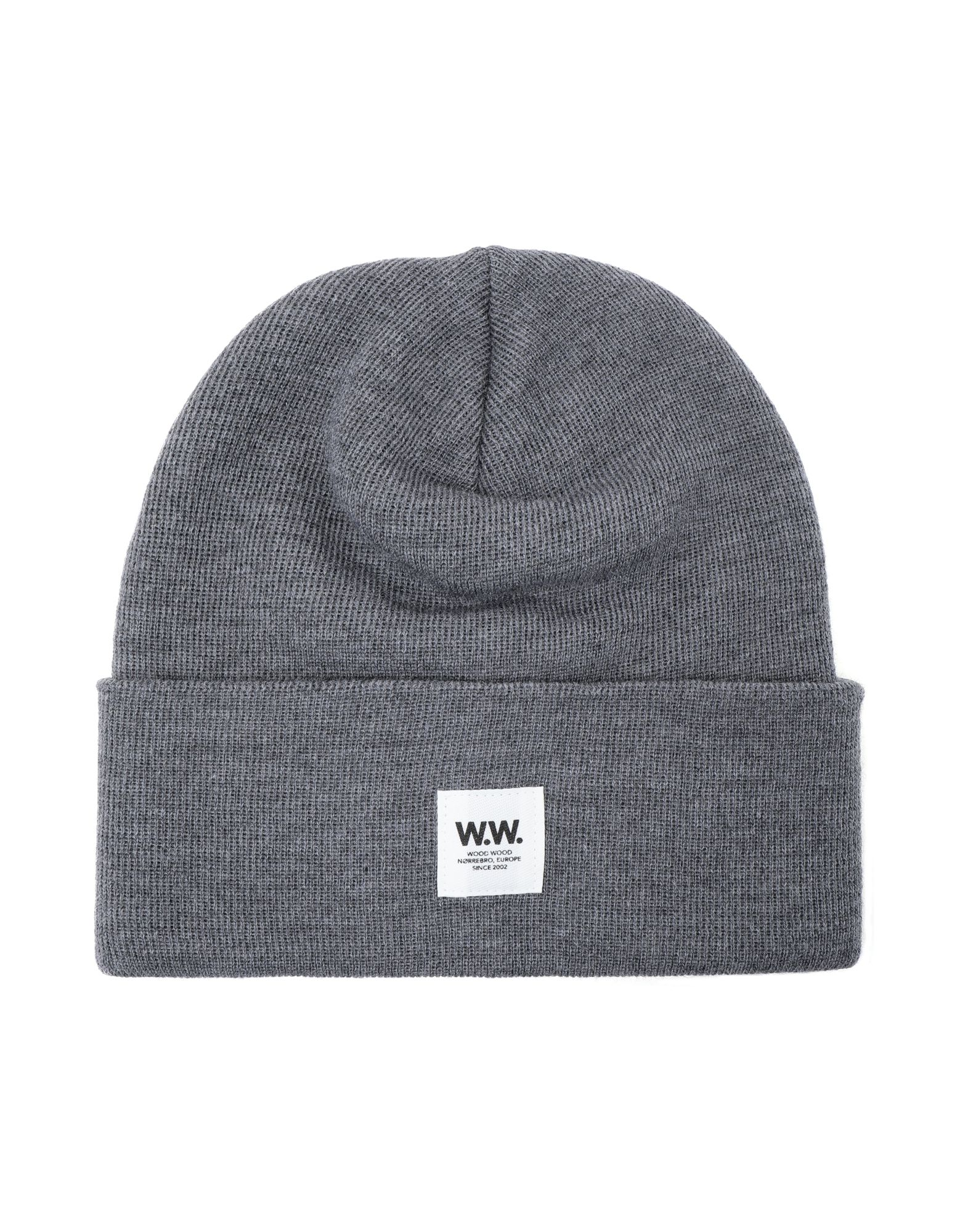 《送料無料》WOOD WOOD メンズ 帽子 鉛色 one size ウール 100% Gerald tall beanie