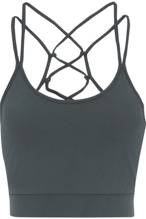 ANA HEART + Six Senses Spas Miller lace-up stretch-jersey sports bra