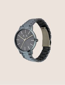 ARMANI EXCHANGE Reloj en acero cepillado con tres enlaces Fashion Watch [*** pickupInStoreShippingNotGuaranteed_info ***] d