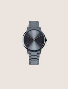 ARMANI EXCHANGE Reloj en acero cepillado con tres enlaces Fashion Watch [*** pickupInStoreShippingNotGuaranteed_info ***] f