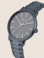 ARMANI EXCHANGE Reloj en acero cepillado con tres enlaces Fashion Watch [*** pickupInStoreShippingNotGuaranteed_info ***] r
