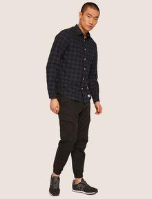 ARMANI EXCHANGE REGULAR-FIT CHECK FLANNEL SHIRT Long sleeve shirt Man d