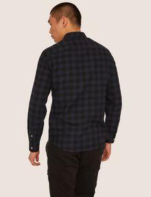 ARMANI EXCHANGE REGULAR-FIT CHECK FLANNEL SHIRT Long sleeve shirt Man e