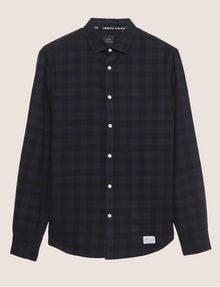 ARMANI EXCHANGE REGULAR-FIT CHECK FLANNEL SHIRT Long sleeve shirt Man r