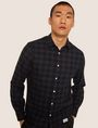ARMANI EXCHANGE REGULAR-FIT CHECK FLANNEL SHIRT Long sleeve shirt Man a