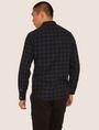 ARMANI EXCHANGE REGULAR-FIT CHECK FLANNEL SHIRT Long-Sleeved Shirt [*** pickupInStoreShippingNotGuaranteed_info ***] e