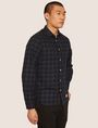 ARMANI EXCHANGE REGULAR-FIT CHECK FLANNEL SHIRT Long sleeve shirt Man f