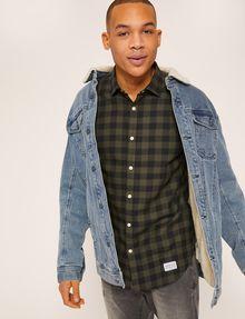 ARMANI EXCHANGE REGULAR-FIT CHECK FLANNEL SHIRT Long-Sleeved Shirt Man a