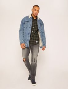 ARMANI EXCHANGE REGULAR-FIT CHECK FLANNEL SHIRT Long-Sleeved Shirt [*** pickupInStoreShippingNotGuaranteed_info ***] d