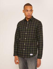 ARMANI EXCHANGE REGULAR-FIT CHECK FLANNEL SHIRT Long-Sleeved Shirt Man f
