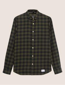 ARMANI EXCHANGE REGULAR-FIT CHECK FLANNEL SHIRT Long-Sleeved Shirt Man r