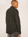 ARMANI EXCHANGE REGULAR-FIT CHECK FLANNEL SHIRT Long-Sleeved Shirt Man e