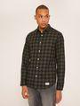 ARMANI EXCHANGE REGULAR-FIT CHECK FLANNEL SHIRT Long-Sleeved Shirt [*** pickupInStoreShippingNotGuaranteed_info ***] f