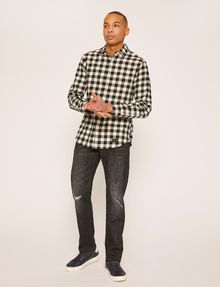 ARMANI EXCHANGE REGULAR-FIT CHECK FLANNEL SHIRT Checked Shirt [*** pickupInStoreShippingNotGuaranteed_info ***] d