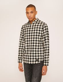 ARMANI EXCHANGE REGULAR-FIT CHECK FLANNEL SHIRT Checked Shirt [*** pickupInStoreShippingNotGuaranteed_info ***] f