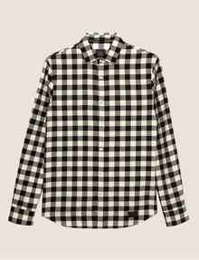 ARMANI EXCHANGE REGULAR-FIT CHECK FLANNEL SHIRT Checked Shirt [*** pickupInStoreShippingNotGuaranteed_info ***] r