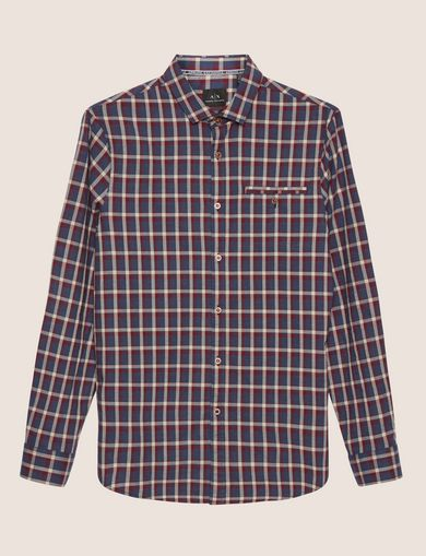 REGULAR-FIT WELT POCKET PLAID SHIRT
