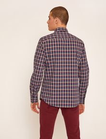 ARMANI EXCHANGE REGULAR-FIT WELT POCKET PLAID SHIRT Checked Shirt [*** pickupInStoreShippingNotGuaranteed_info ***] e
