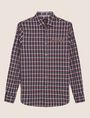 ARMANI EXCHANGE REGULAR-FIT WELT POCKET PLAID SHIRT Checked Shirt [*** pickupInStoreShippingNotGuaranteed_info ***] r