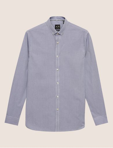 REGULAR-FIT MINI-CHECK SHIRT
