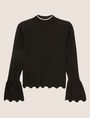 ARMANI EXCHANGE SCALLOPED HEM MOCKNECK SWEATER Pullover [*** pickupInStoreShipping_info ***] r