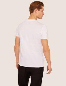 ARMANI EXCHANGE SLIM-FIT OPTICAL STRIPE METALLIC CREW Logo T-shirt [*** pickupInStoreShippingNotGuaranteed_info ***] e